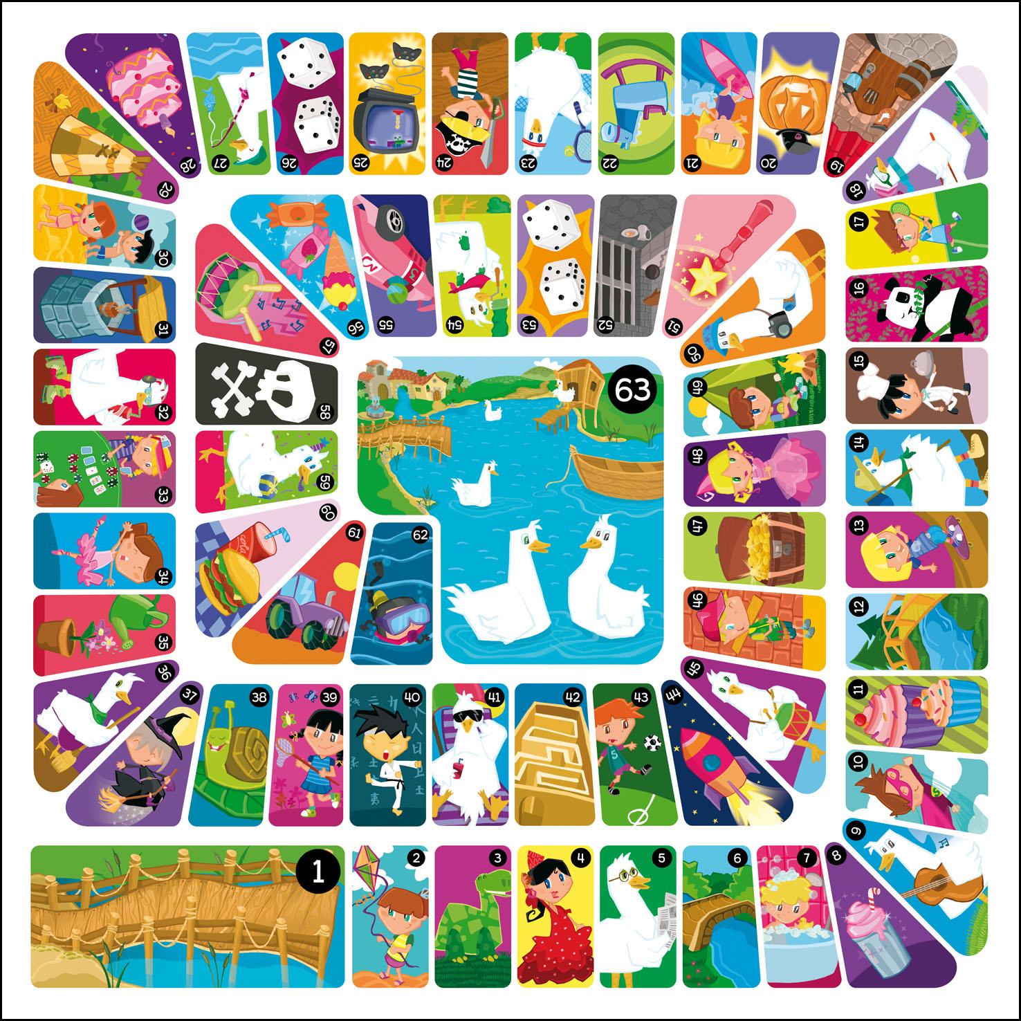El juego de la oca materiales de apoyo para personas con trastorno del espectro del autismo - La oca juego de mesa ...